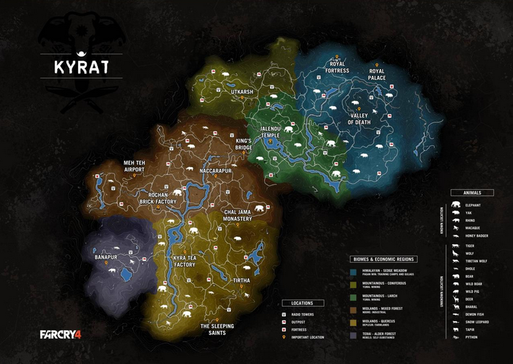 far cry 4 kyrat map