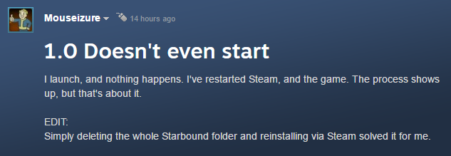 Starbound Not Starting