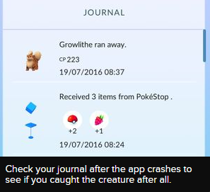 Pokemon GO Crashes